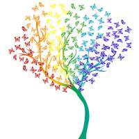 Arbre de papillons d arc en ciel 46926483